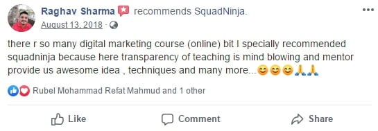 Raghave sharmaonline digital marketing cours review