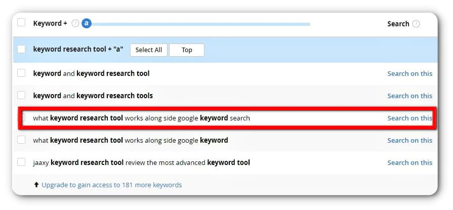 long-tail keyword research with jaaxy